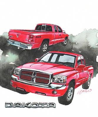 Dodge Painting - Dodge Dakota by Yoshiharu Miyakawa