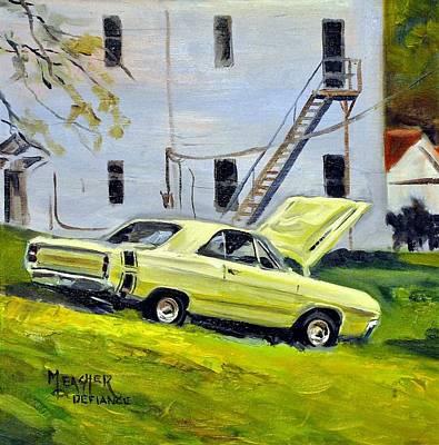 Dart Painting - Dodge Dart Swinger by Spencer Meagher