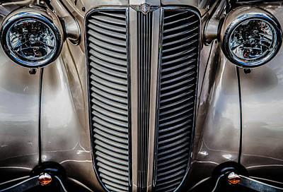 Photograph - Dodge Grille by Karen Saunders