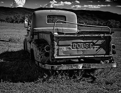 Photograph - Dodge In Black And White by Charles Muhle
