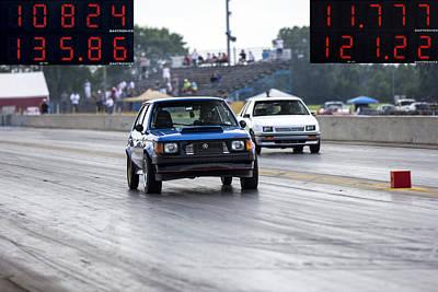 Thomas Kinkade Royalty Free Images - Dodge Omni GLH vs RWD Dodge Shadow Royalty-Free Image by Josh Bryant