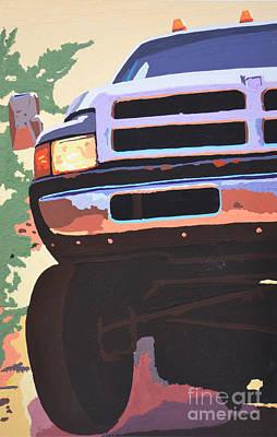 Dodge Truck Painting - Dodge Ram  by Paul Kuras