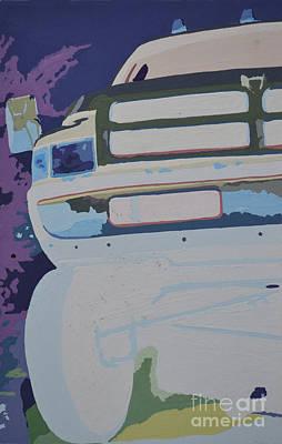 Dodge Truck Painting - Dodge Ram Negative  by Paul Kuras