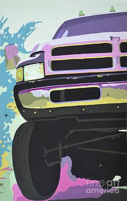 Dodge Truck Painting - Dodge Ram #3 by Paul Kuras