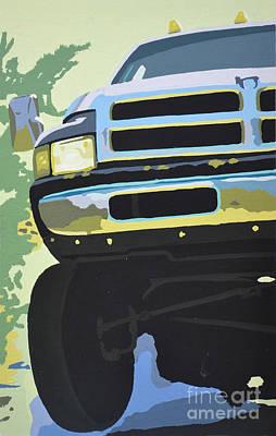 Dodge Truck Painting - Dodge Ram With Green Hue by Paul Kuras