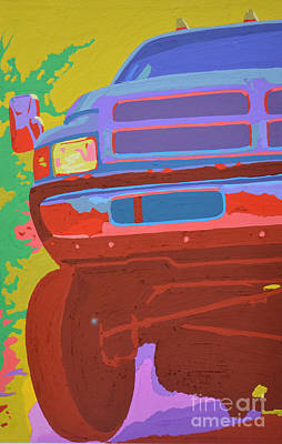 Pickup Painting - Dodge Ram With Increased Chroma by Paul Kuras