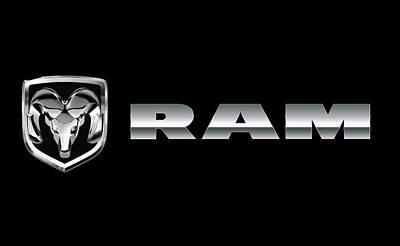 Photograph - Dodge Ram Logo by Carlos Diaz