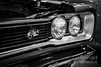 Dodge Super Bee Black And White Art Print by Paul Velgos
