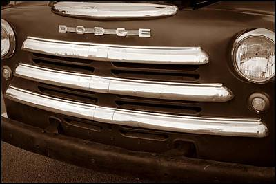 Photograph - Dodge Truck Grill by Sharon Popek
