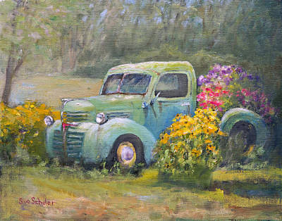 Dodge Truck Painting - Dodge Truck by Sue Schuler