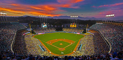 Sports Royalty-Free and Rights-Managed Images - Dodger Stadium by Kevin D Haley