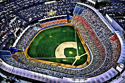 Dodger Stadium Painting Art Print by Florian Rodarte