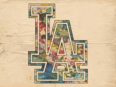 Los Angeles Dodgers Painting - Dodgers Poster by Florian Rodarte
