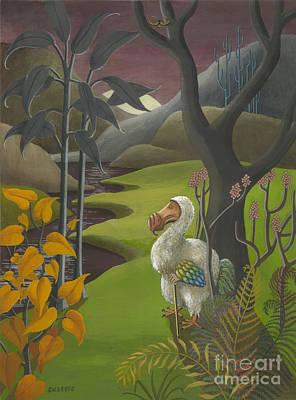 Alice In Wonderland Painting - Dodo by Suzette Broad