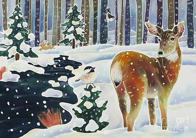 Doe And The Chickadee Original by Harriet Peck Taylor