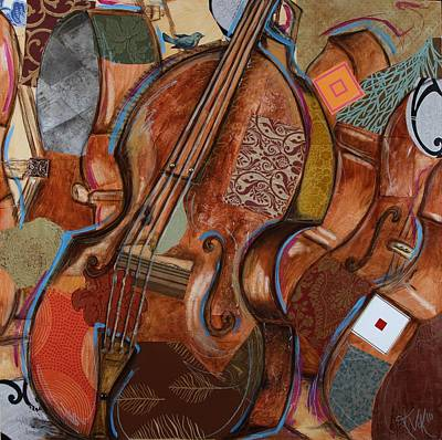 Mixed Media - Doe The Bass by Katia Von Kral