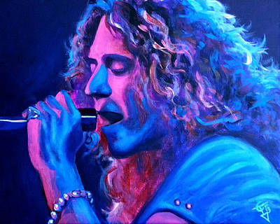 Robert Plant Painting - Does Anybody Remember Laughter? by Tom Carlton