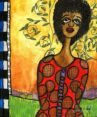 Mixed Media - Does He Love Me by Angela L Walker