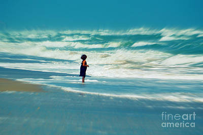 Splashing In The Tide Photograph - Does The Ocean Ever Stops by Susanne Van Hulst