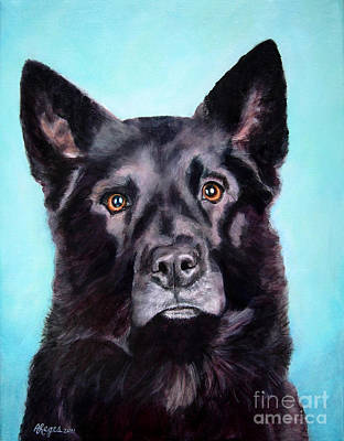 Painting - Does This Include Me Black Dog by Amy Reges