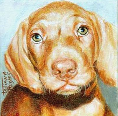 Ruger Painting - Dog 1. Come Home Soon. by Rugers Tatiana