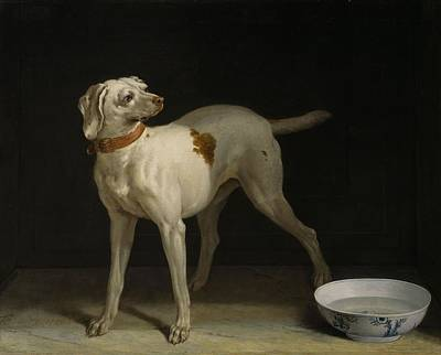 Fireplace Painting - Dog, 1751 by Jean-Baptiste Oudry