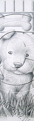 Hamster Drawing - Dog And Hamster # 13 by Jeanette K