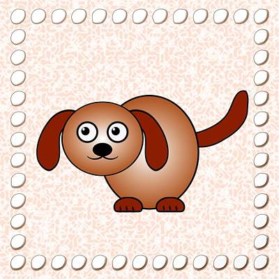 Digital Art - Dog - Animals - Art For Kids by Anastasiya Malakhova