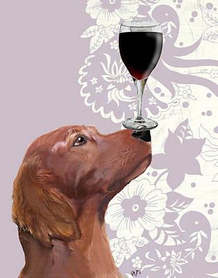 Glass Wall Digital Art - Dog Au Vin by Kelly McLaughlan