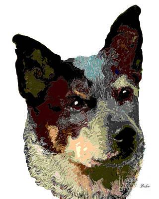 Cattle Dog Digital Art - Dog Australian Cattle Dog by Dalon Ryan