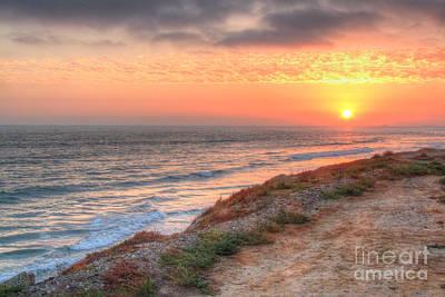 Photograph - Dog Beach Sunset 2 by Deborah Smolinske
