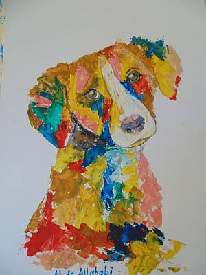 Dog Beautiful Color Art Print by Abdo Allahabi