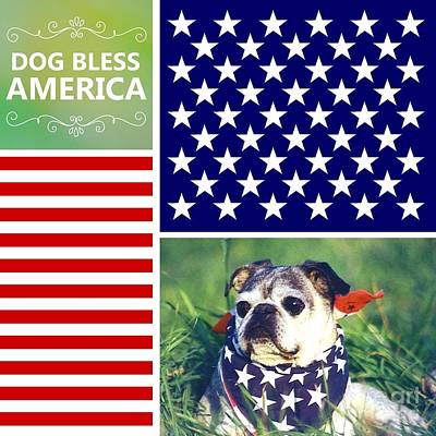 Dog Bless America Art Print