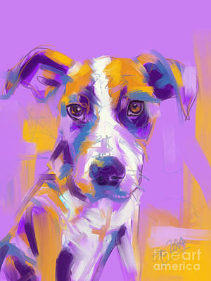 Painting - Dog Charlie by Go Van Kampen
