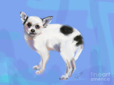 Dogs Painting - Dog Chihuahua Blue by Go Van Kampen