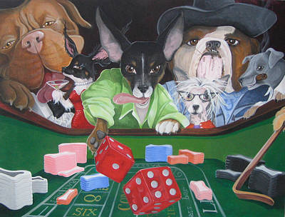 Dog Craps Art Print by Suzanne Rende-Chorno