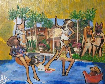 Art Print featuring the painting Dog Days Of Summer by Lisa Piper