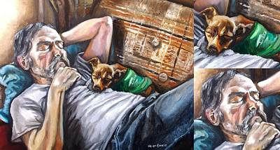 Painting - Dog Days With Close Ups by Shana Rowe Jackson