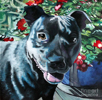 Staffy Painting - Dog Dog by Gee Lyon
