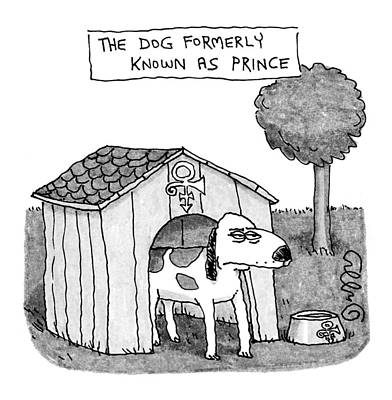 Dog At Door Drawing - Dog Formerly Known As Prince by J.C.  Duffy