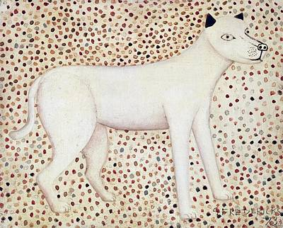 Naive Art Painting - Dog by George Fredericks