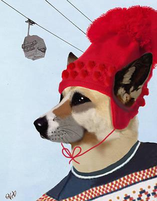 Dog In A Ski Jumper Art Print