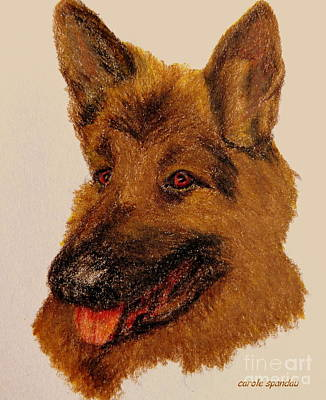 Painting - Dog  Iphone Cases Smart Phones Cells And Mobile Phone Cases Carole Spandau 312 by Carole Spandau