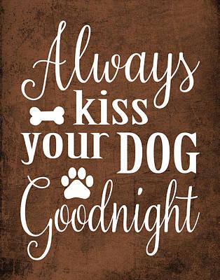 Paws Painting - Dog Kiss by Tamara Robinson