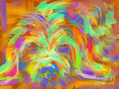Painting - Dog Matze by Go Van Kampen