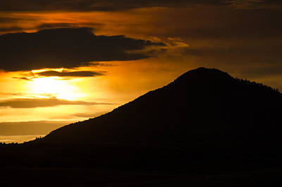 Photograph - Dog Mountain Sunset by John Brink