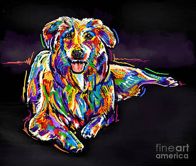Painting - Dog-multi-color by Tim Gilliland
