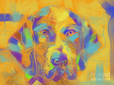 Painting - Dog Noor by Go Van Kampen