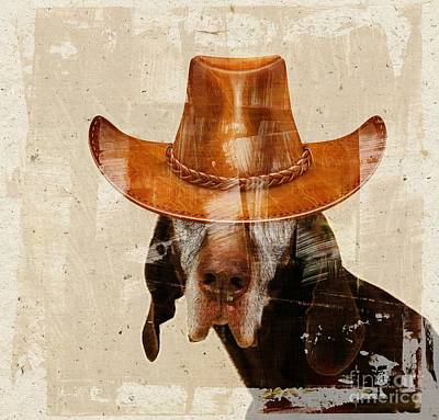 Dogs Digital Art - Dog Personalities 01 Cow-boy by Variance Collections