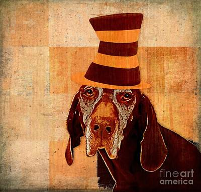 Yellow Cat Digital Art - Dog Personalities 11 Cat In The Hat by Variance Collections
